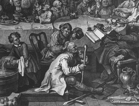 Bild-Nr: 31000666 An Election Entertainment, 1755 Erstellt von: Hogarth, William