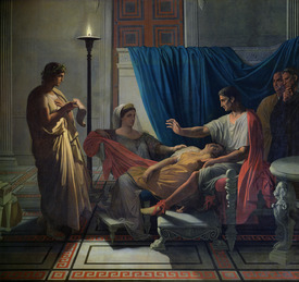 Bild-Nr: 31000684 Virgil Reading the Aeneid to Livia, Octavia and Augustus, c.1812 Erstellt von: Ingres, Jean-Auguste-Dominique