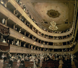 Bild-Nr: 31000718 The Auditorium of the Old Castle Theatre, 1888 Erstellt von: Klimt, Gustav