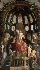 Bild-Nr: 31000789 The Virgin of Victory or The Madonna and Child Enthroned with Six Saints and Ado Erstellt von: Mantegna, Andrea