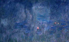 Bild-Nr: 31000909 Waterlilies: Reflections of Trees, detail from the central section, 1915-26 Erstellt von: Monet, Claude