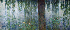 Bild-Nr: 31000919 Waterlilies: Morning with Weeping Willows, detail of the left section, 1915-26 Erstellt von: Monet, Claude