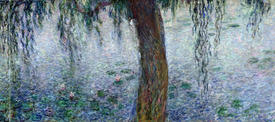 Bild-Nr: 31000920 Waterlilies: Morning with Weeping Willows, detail of the right section, 1915-26 Erstellt von: Monet, Claude