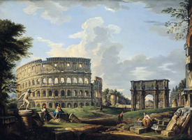 Bild-Nr: 31000940 The Colosseum and the Arch of Constantine Erstellt von: Pannini, Giovanni Paolo