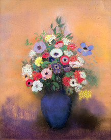 Bild-Nr: 31001006 Anemones and lilac in a Blue Vase, after 1912 Erstellt von: Redon, Odilon