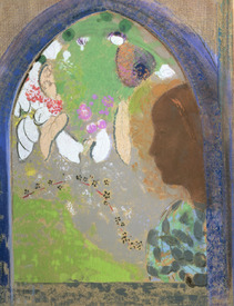 Bild-Nr: 31001012 Profile of a Woman at a Window, c.1912 Erstellt von: Redon, Odilon