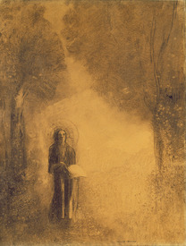 Bild-Nr: 31001020 The Walker, Study for 'The walking Buddha'), 1890-95 Erstellt von: Redon, Odilon