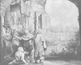 Bild-Nr: 31001048 St. Peter and St. John at the Entrance to the Temple, 1649 Erstellt von: Rembrandt Harmenszoon van Rijn