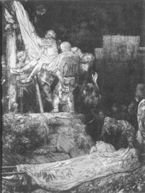 Bild-Nr: 31001050 The Descent from the Cross with a Torch, 1654 Erstellt von: Rembrandt Harmenszoon van Rijn