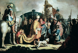 Bild-Nr: 31001059 David Offering the Head of Goliath to King Saul, 1627 Erstellt von: Rembrandt Harmenszoon van Rijn