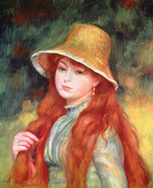 Bild-Nr: 31001133 Young girl with long hair, or Young girl in a straw hat, 1884 Erstellt von: Renoir, Pierre-Auguste