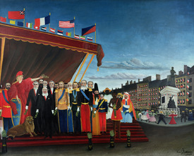 Bild-Nr: 31001169 The Representatives of Foreign Powers Coming to Salute the Republic as a Sign of Erstellt von: Rousseau, Henri Julien Felix