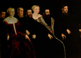 Bild-Nr: 31001245 Seven members of the Soranzo Family Erstellt von: Tintoretto, Jacopo