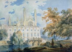 Bild-Nr: 31001256 Clare Hall and the West End of King's College Chapel, Cambridge, from the banks  Erstellt von: Turner, Joseph Mallord William