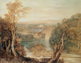 Bild-Nr: 31001272 The River Wharfe with a distant view of Barden Tower Erstellt von: Turner, Joseph Mallord William