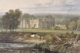 Bild-Nr: 31001280 View of Hampton Court, Herefordshire, from the south-east, c.1806 Erstellt von: Turner, Joseph Mallord William
