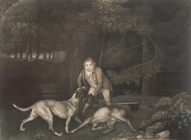 Bild-Nr: 31001426 Freeman, Keeper to the Earl of Clarendon, with a hound and a wounded doe, 1804 Erstellt von: Stubbs, George