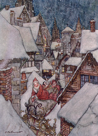 Bild-Nr: 31001446 Christmas illustrations, from 'The Night Before Christmas' by Clement C. Moore,  Erstellt von: Rackham, Arthur