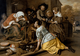 Bild-Nr: 31001465 The Effects of Intemperance, c.1663-65 Erstellt von: Steen, Jan Havicksz.