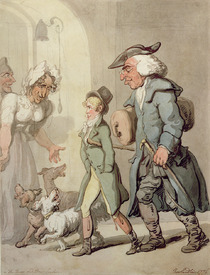 Bild-Nr: 31001472 The Bear and Bear Leader - passing the Hotel d'Angleterre, 1776 Erstellt von: Rowlandson, Thomas