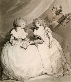 Bild-Nr: 31001474 The Duchess of Devonshire and her Sister, the Countess of Bessborough Erstellt von: Rowlandson, Thomas