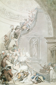 Bild-Nr: 31001476 The Exhibition 'Stare-Case', Somerset House, c.1800 Erstellt von: Rowlandson, Thomas