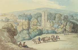 Bild-Nr: 31001488 The Church and Village of St. Cue, Cornwall, c.1812 Erstellt von: Rowlandson, Thomas