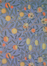 Bild-Nr: 31001533 'Blue Fruit' or 'Pomegranate' wallpaper design, 1866 Erstellt von: Morris, William