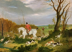 Bild-Nr: 31001586 The Suffolk Hunt - Going to Cover near Herringswell Erstellt von: Herring Snr, John Frederick