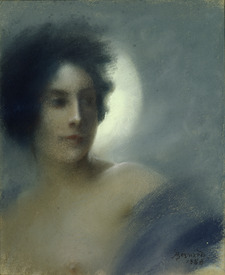 Bild-Nr: 31001634 Woman with a Crescent Moon or, The Eclipse, 1888 Erstellt von: Besnard, Paul Albert
