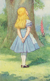 Bild-Nr: 31001651 Alice and the Cheshire Cat, illustration from 'Alice in Wonderland' by Lewis Car Erstellt von: Tenniel, John