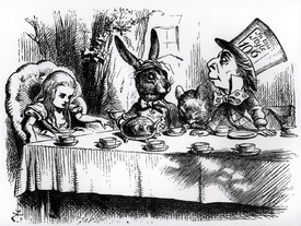 Bild-Nr: 31001652 The Mad Hatter's Tea Party, illustration from 'Alice's Adventures in Wonderland' Erstellt von: Tenniel, John