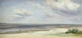 Bild-Nr: 31001690 A Beach on the Baltic Sea at Laboe, 1842 Erstellt von: Gensler, Jacob