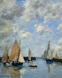 Bild-Nr: 31001693 The Jetty at High Tide, Trouville Erstellt von: Boudin, Eugene Louis