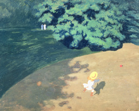 Bild-Nr: 31001739 The Balloon or Corner of a Park with a Child Playing with a Balloon, 1899 Erstellt von: Vallotton, Felix Edouard