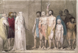 Bild-Nr: 31001747 St. Gregory and the British Captives Erstellt von: Blake, William