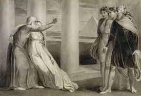 Bild-Nr: 31001748 Tiriel Supporting the Dying Myratana and Cursing his Sons, 1786-89 Erstellt von: Blake, William