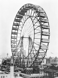 Bild-Nr: 31001880 The ferris wheel at the World's Columbian Exposition of 1893 in Chicago Erstellt von: Unbekannte Fotografen