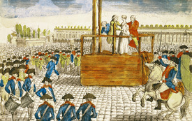 Bild-Nr: 31001957 Execution of Marie-Antoinette in the Place de la Revolution, 16th October 1793 Erstellt von: Anonyme Künstler