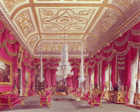 Bild-Nr: 31002058 The Crimson Drawing Room, Carlton House from Pyne's 'Royal Residences', 1818 Erstellt von: Pyne, William Henry