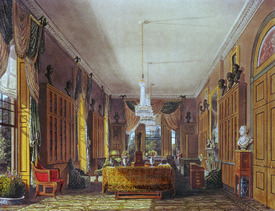 Bild-Nr: 31002060 The Queen's Library, Frogmore, Pyne's 'Royal Residences', 1818 Erstellt von: Pyne, William Henry