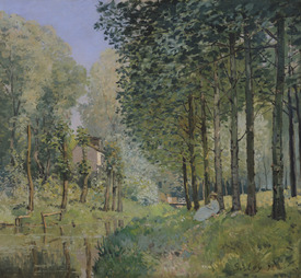 Bild-Nr: 31002096 The Rest by the Stream. Edge of the Wood, 1872 Erstellt von: Sisley, Alfred