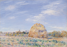 Bild-Nr: 31002100 Haystack on the Banks of the Loing, 1891 Erstellt von: Sisley, Alfred