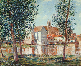 Bild-Nr: 31002103 The Loing at Moret, September Morning Erstellt von: Sisley, Alfred