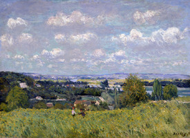 Bild-Nr: 31002113 The Valley of the Seine at Saint-Cloud, 1875 Erstellt von: Sisley, Alfred