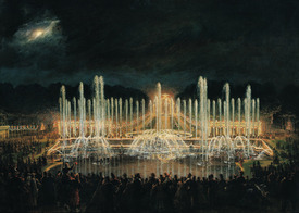 Bild-Nr: 31002125 Illuminated Fountain Display in the Bassin de Neptune in Honour of Prince Franci Erstellt von: Lami, Eugene-Louis