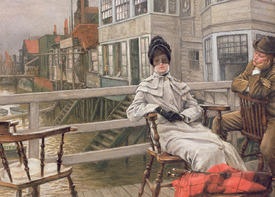 Bild-Nr: 31002160 Waiting for the Ferry, c.1878 Erstellt von: Tissot, James Jacques Joseph