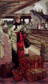 Bild-Nr: 31002163 Waiting at the Station, Willesden Junction, c.1874 Erstellt von: Tissot, James Jacques Joseph