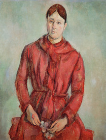 Bild-Nr: 31002180 Portrait of Madame Cezanne in a Red Dress, c.1890 Erstellt von: Cezanne, Paul
