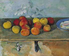 Bild-Nr: 31002190 Still life of apples and biscuits, 1880-82 Erstellt von: Cezanne, Paul